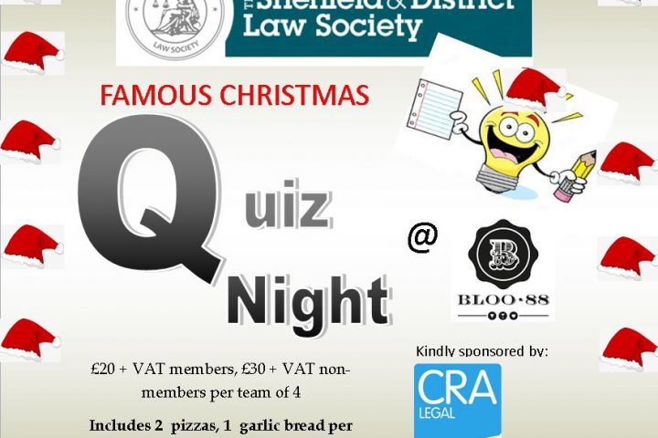 *SOLD OUT *The Famous Sheffield Law Society Christmas Quiz at Bloo 88