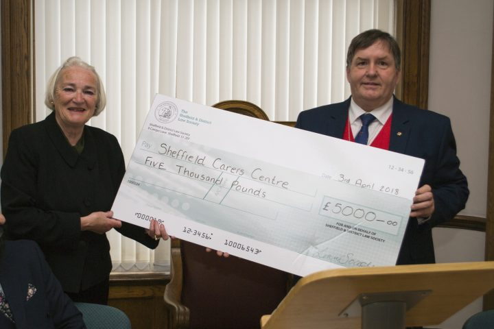 Sheffield Law Society Raises £5000 for local carers charity